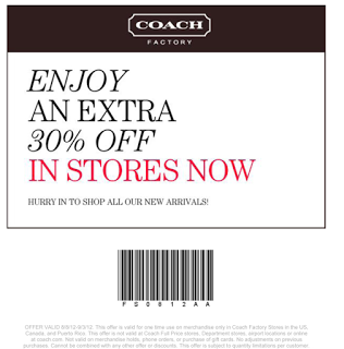 coach coupons in store