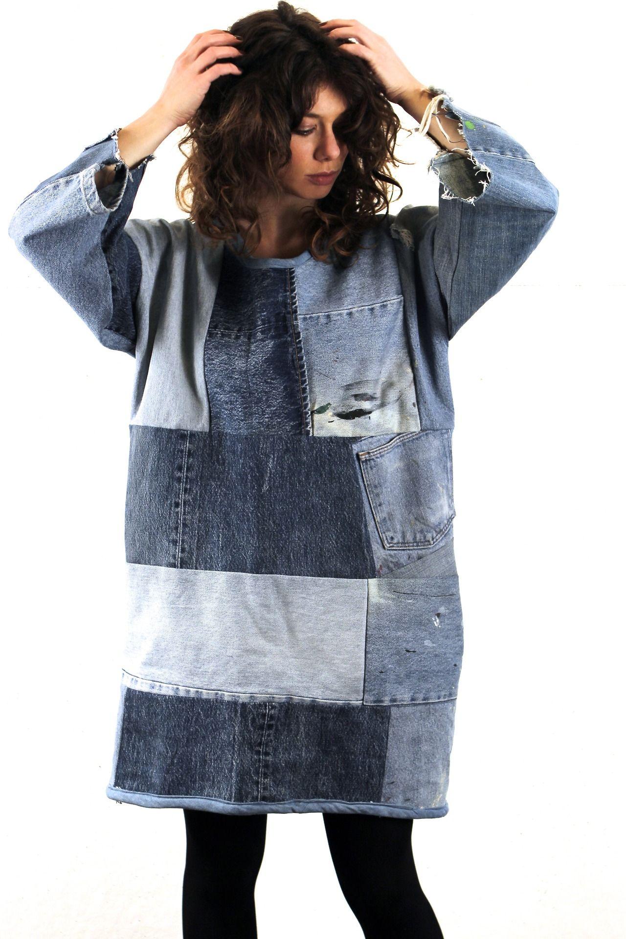 SilkDenim Sarah\'s dress | Jeans on! | Pinterest | Oberteile, Jeans ...