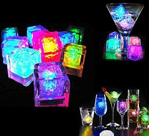Glow In The Dark Neon Party Ideas Party Themes For Teenagers Led Glow Lights Glow Party Favors Ice Cube Lights