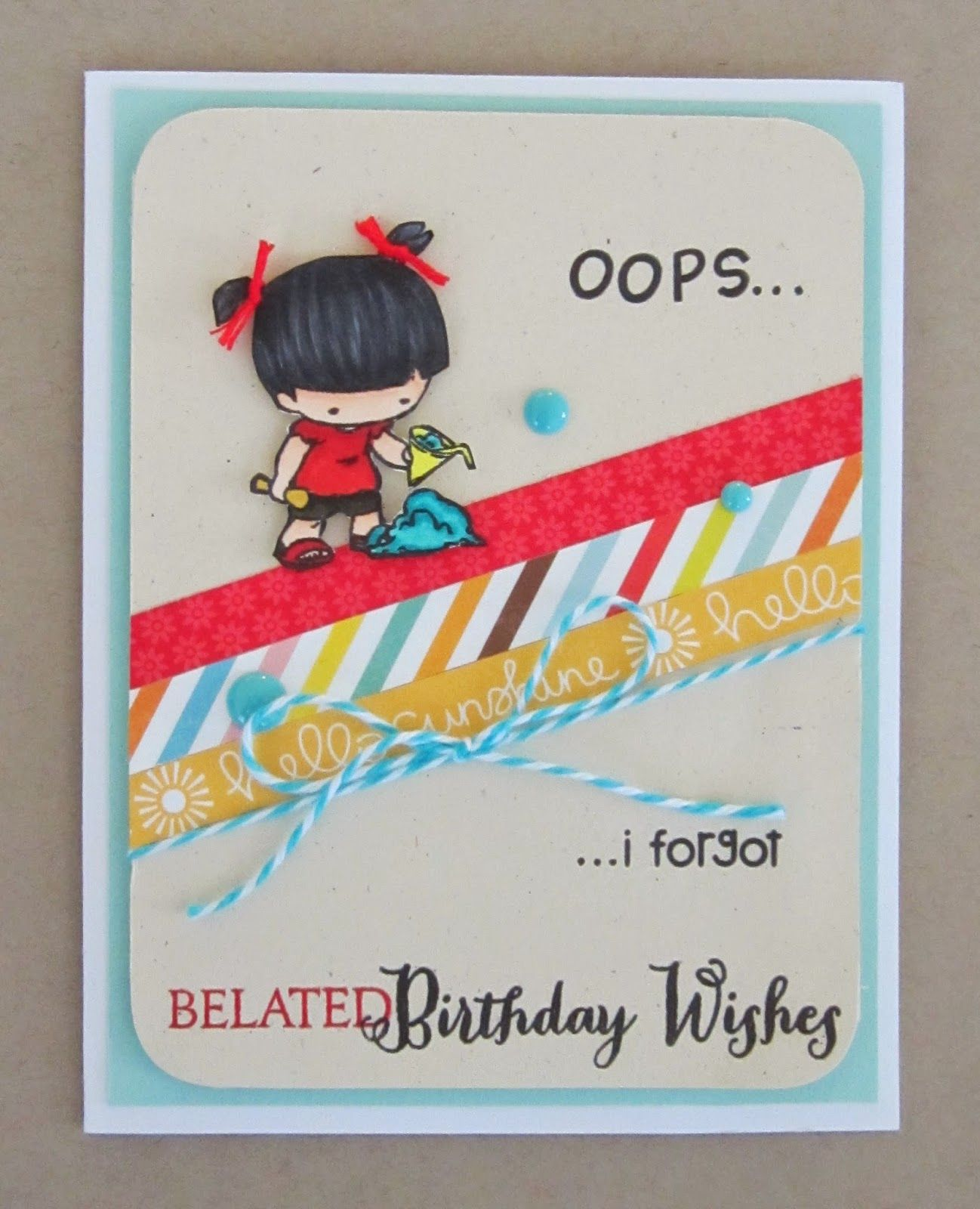 Sister Stamp Release 24 Leilani Belated birthday