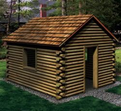 Your Kids Will Love Having Their Own Little Log Cabin To Play In