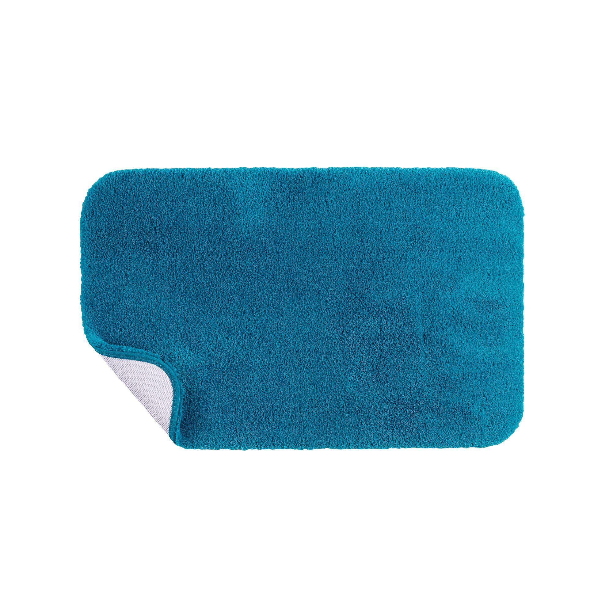 apt. 9® solid plush bath rug - 20'' x 32'', grey | dark blue