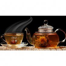 Engraved Glass Coffee Mug, Chinese Teas Glass Cup Set :