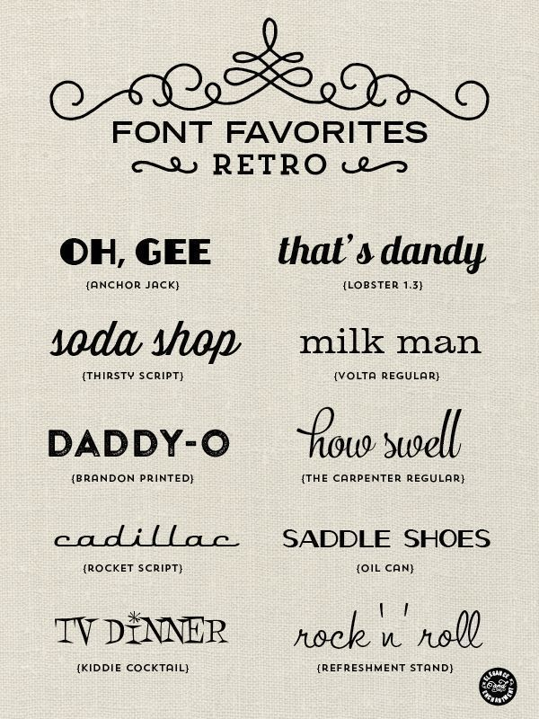 Photo of Retro fonts for graphic design, web design, blogging, paper crafts, DIY projects…
