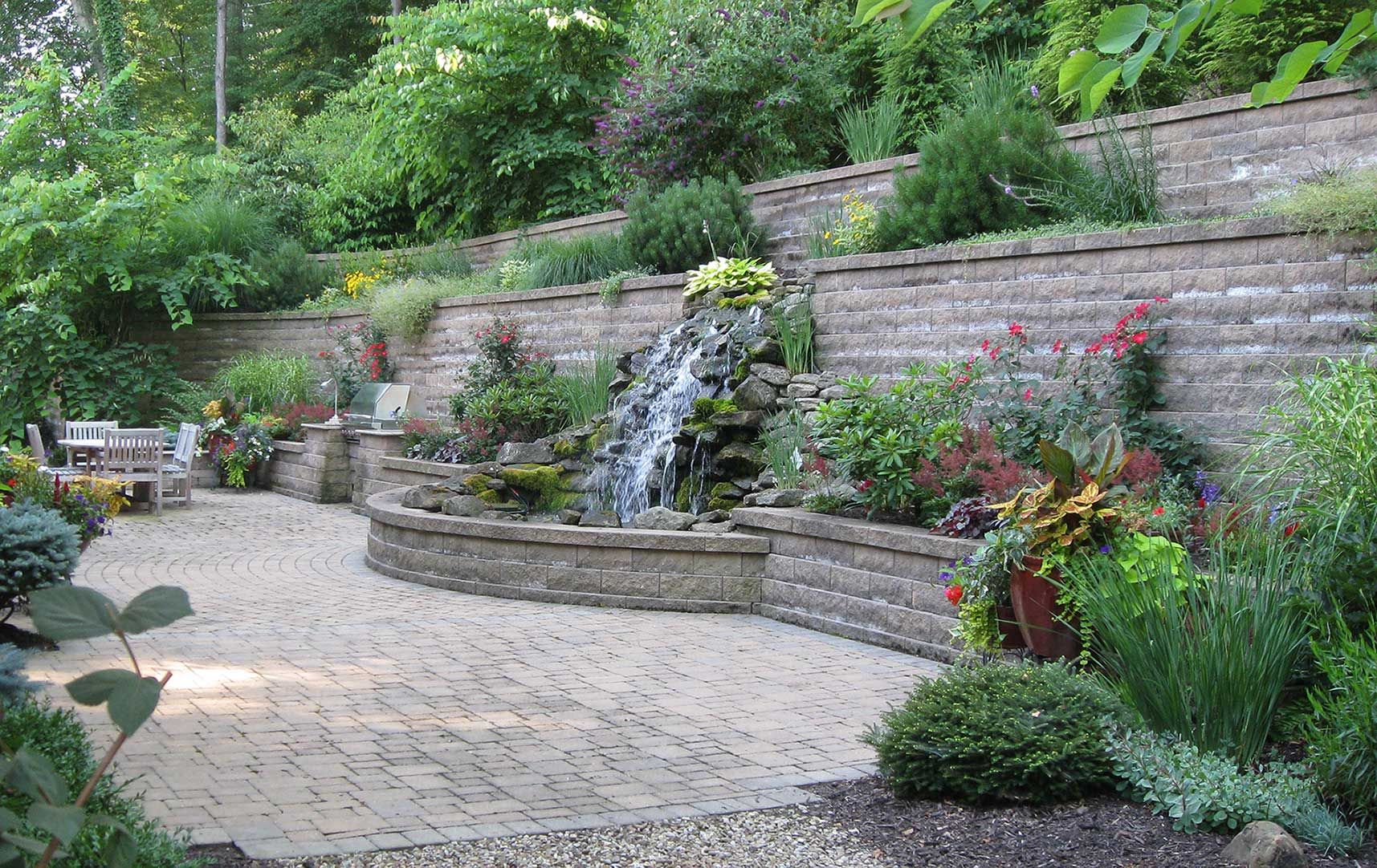Over The Garden Walk: Retaining Wall Garden. Take The Brick Walk Way And Add
