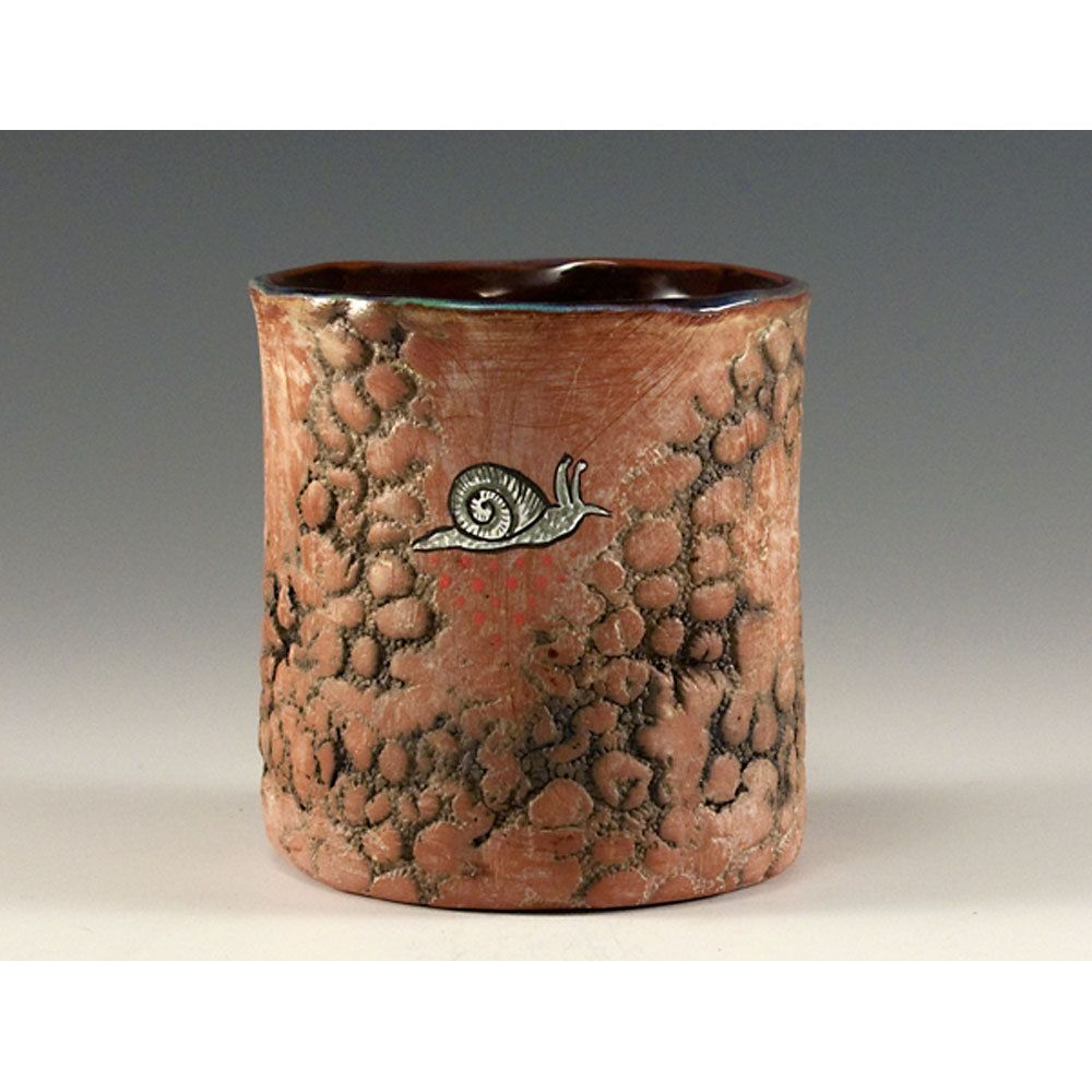 Ceramic Textured Tumbler By Jenny Mendes Escargot Ceramic Birds Ceramics Ceramic Cups