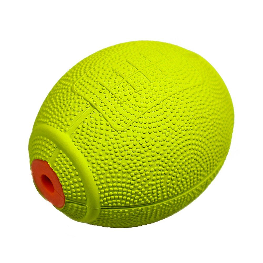 Laroo Dog Toy Dog Squeeze Ball Pets Dog Toy Natural Rubber Rugby