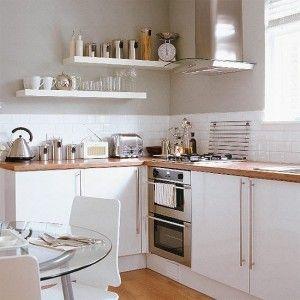 White Kitchen With Wooden Worktops white kitchen with beech wood worktops. | kitchen | pinterest