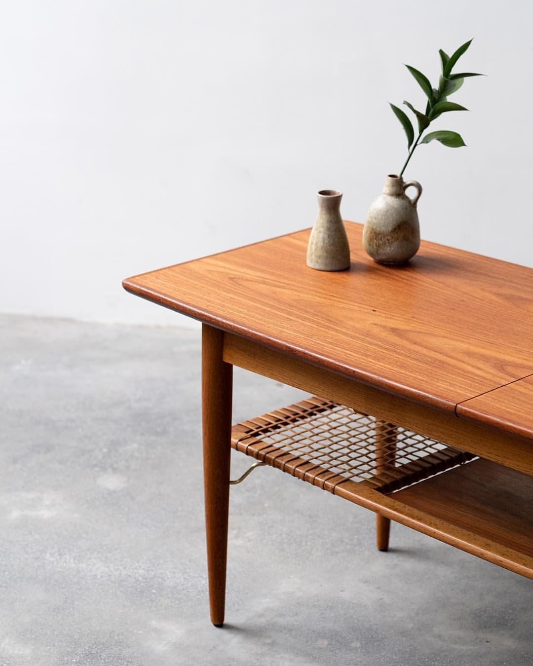 Beautiful Vintage Danish Coffee Table In Teak Solid Oak