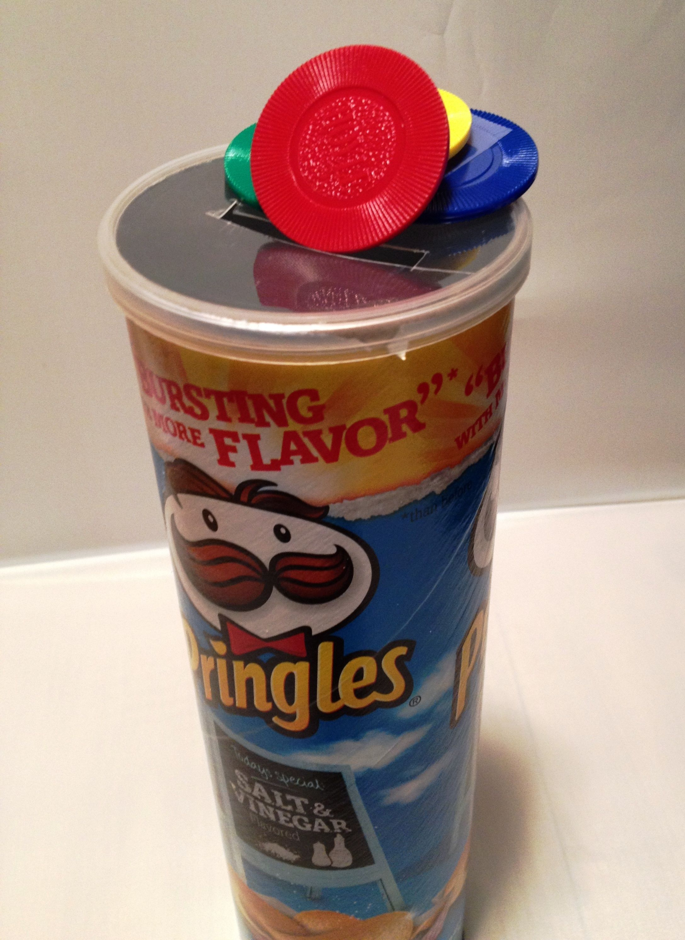 Don T Buy Expensive Slot Toys Use Some Poker Chips And A Pringles Can Or Coffee Can Pringles Can Poker Chips Pringles