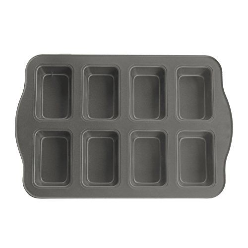 Evelots 8 Cup Nonstick Mini Loaf Brownie Baking Pan Kitchenware
