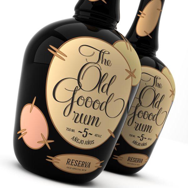 The Old Goood Rum by Pavel Kulinsky, via Behance