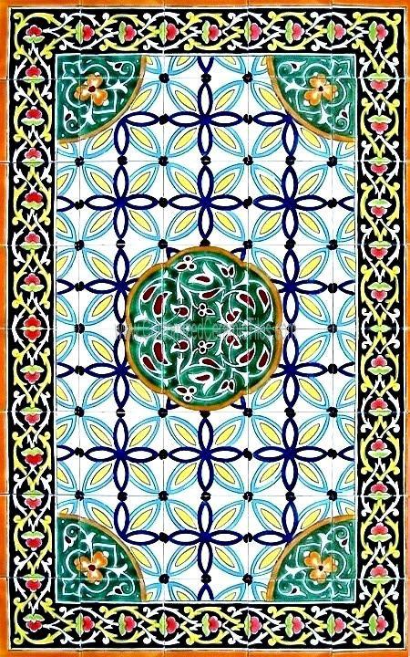 Large Decorative Ceramic Tiles Decorative Ceramic Tiles Persian Design Large Mosaic Panel Hand