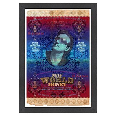 Americanflat 'New Money: Bono' by Val Bochkov Framed Graphic Art
