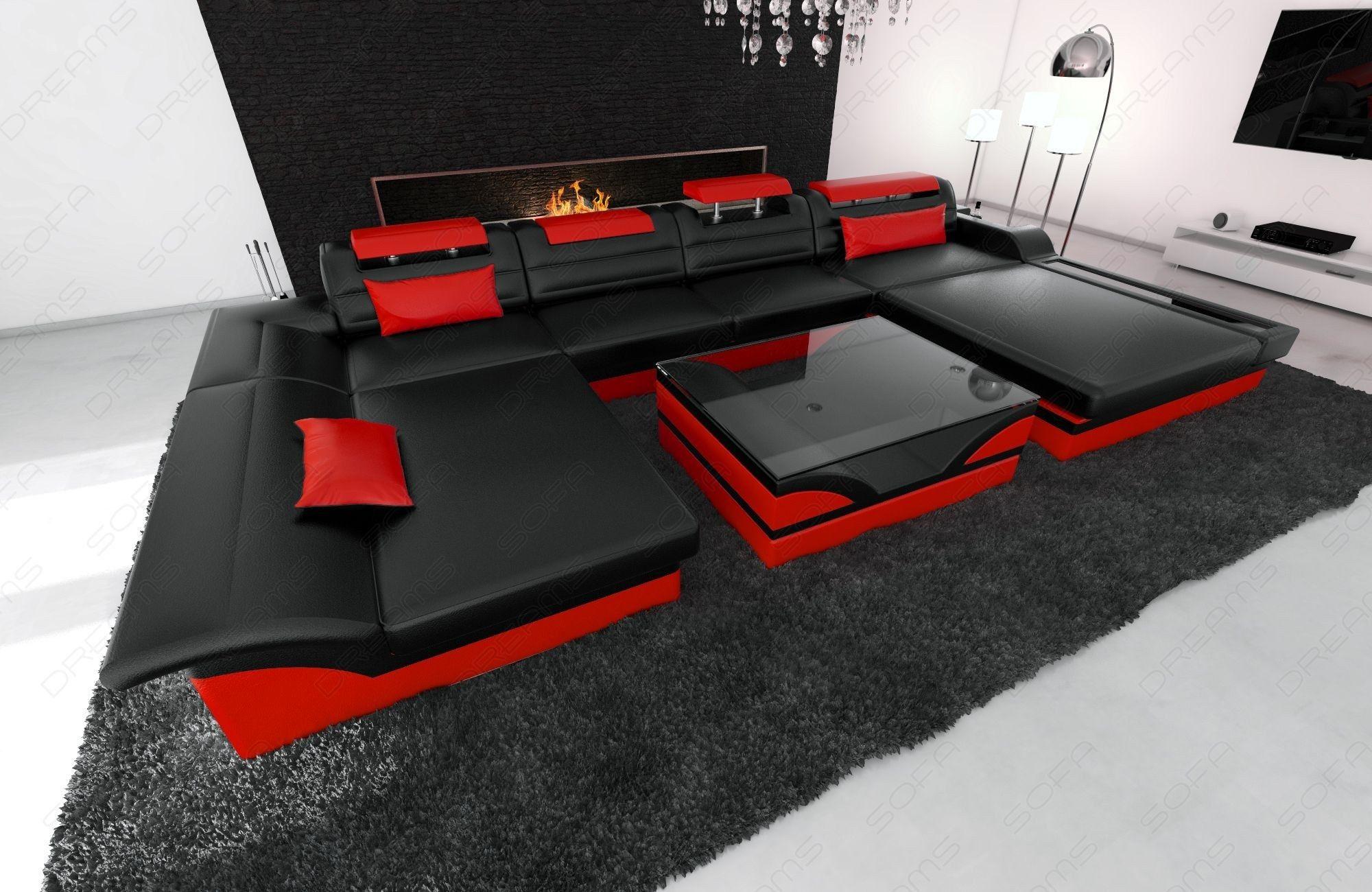 Design Sofa Chicago U Shape Black Red Modern Sofa Sectional Sectional Sofa Modern Fabric Sofa