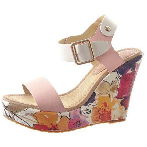 Sopily - Scarpe da Moda sandali Zeppe alla caviglia donna fiori Tacco zeppa piattaforma 11 CM - Rosa FRF-BL95 T 36 Sopily http://www.amazon.it/dp/B00UFUPEYW/ref=cm_sw_r_pi_dp_DjJCvb0GB7H3X