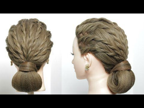 Easy Simple Party Hairstyle Updo For Long Hair Tutorial Youtube Hair Styles Long Hair Styles Vintage Hairstyles Tutorial