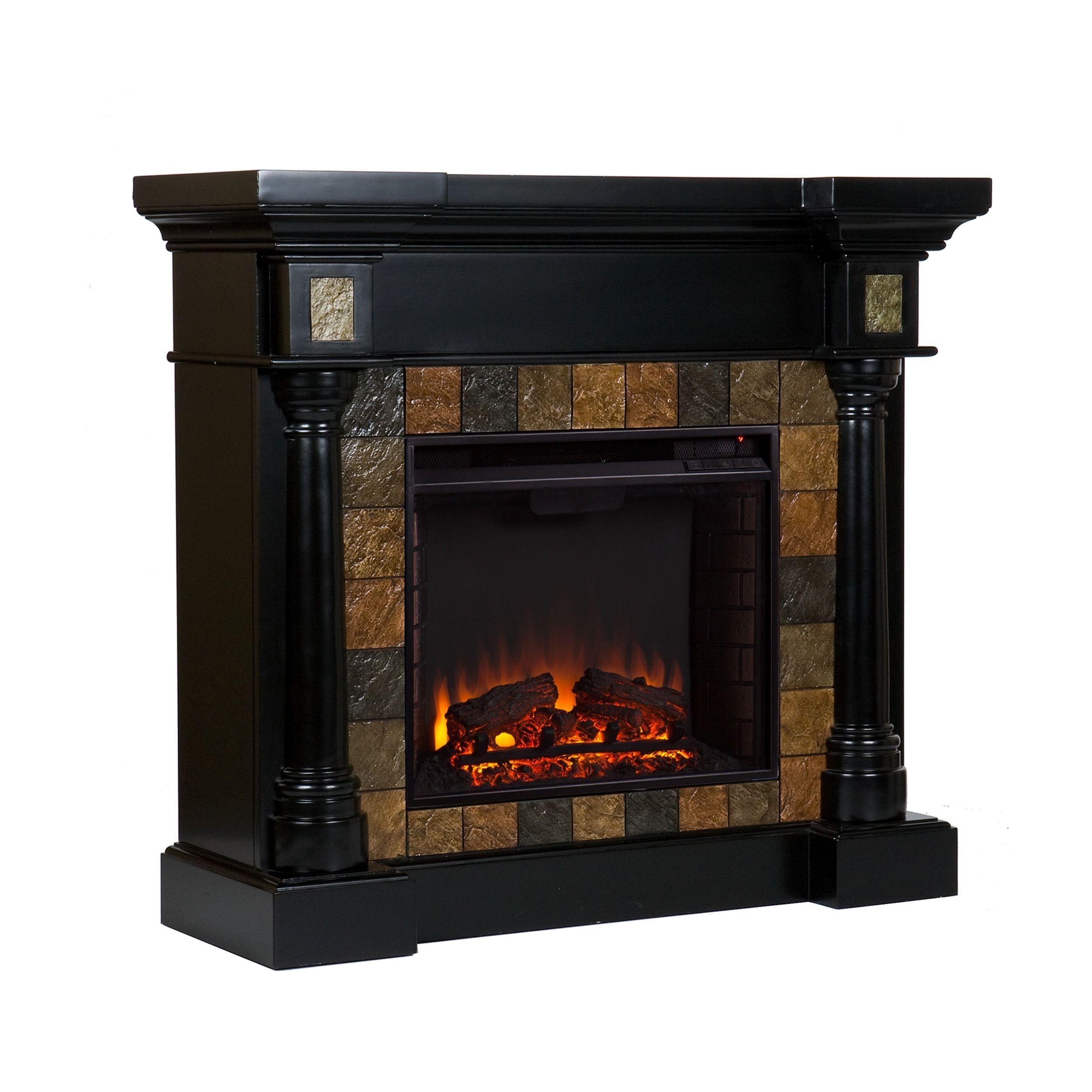 harper blvd blanchard black electric fireplace by harper blvd