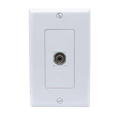 New Easy Installation 1 Toslink Digital Audio Port Wall Plate Decorative Plates On Wall Plates Installation