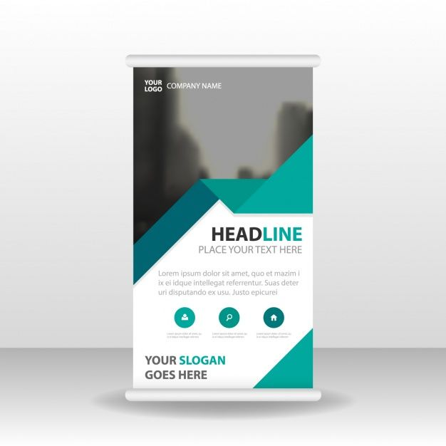 Roll up stand template Free Vector coded infographics - company profile free template