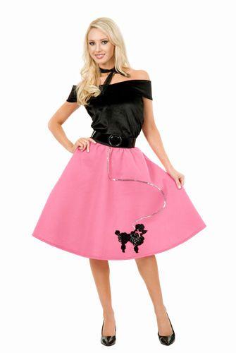 Fuschia Poodle Skirt 50's Plus Size Costume #Charades #CompleteCostume