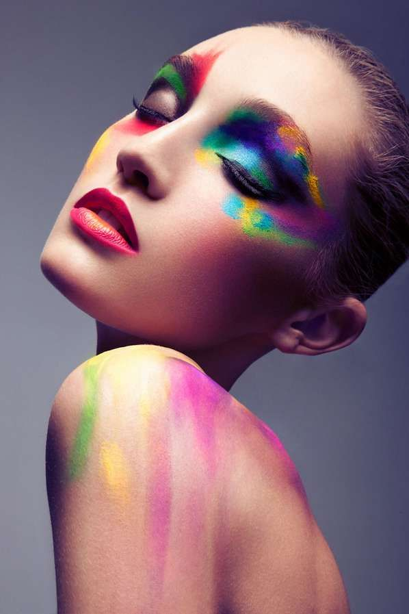 Rainbow Bright Beauty Fotografie Maquillaje Maquillaje
