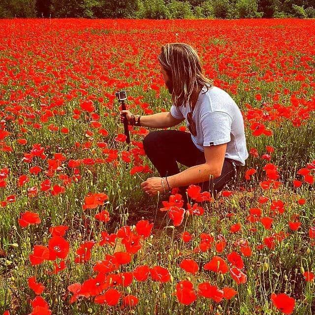 Keith in A poppy field in France.