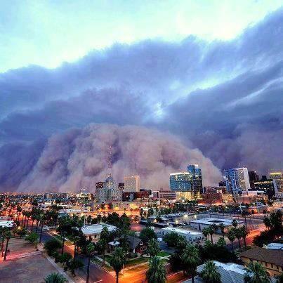 Sandstorm Approaching Phoenix Arizona Dust Storm Nature