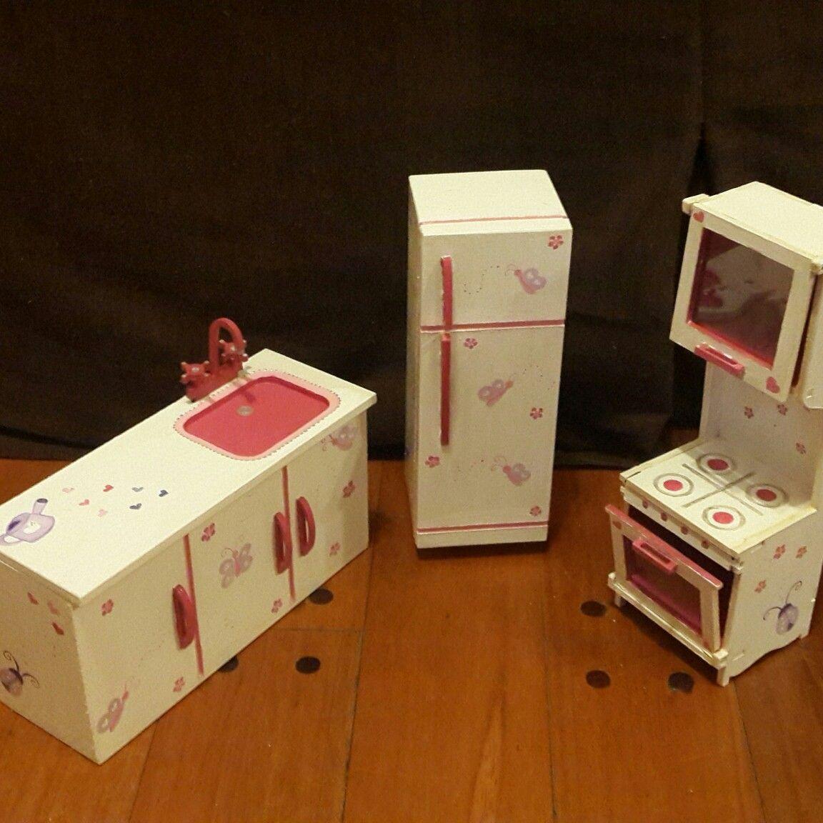 Muebles de cocina para mu ecas barbies personalizados for Muebles de cocina alve