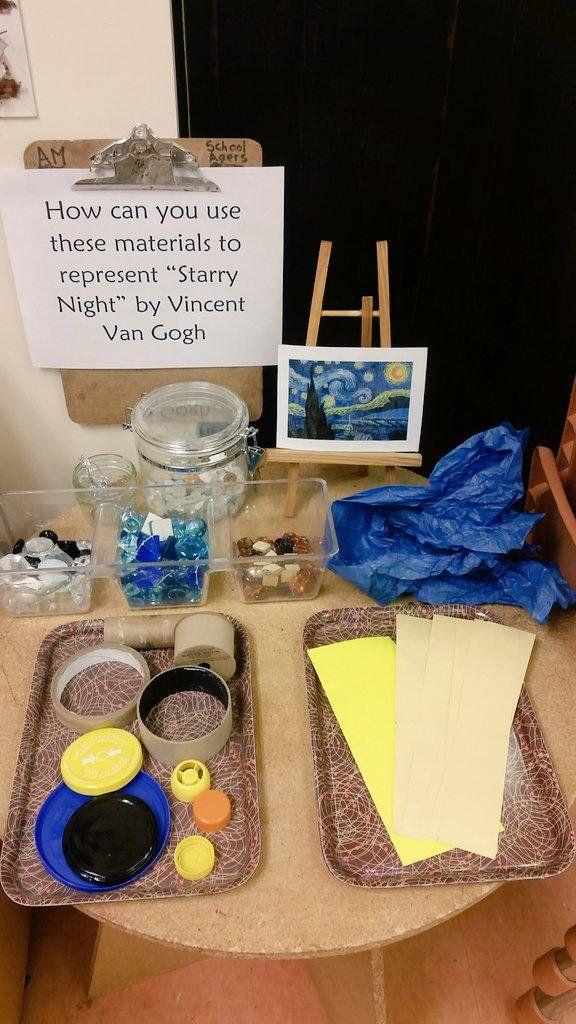 School Age Lawrence on Montessori art, Preschool art