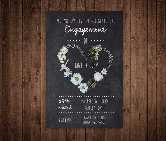 Engagement Invitation - Custom Digital File Wedding invitation