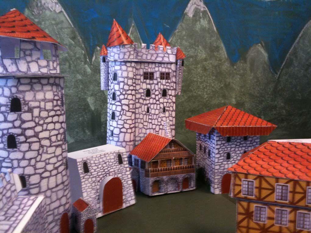 Maquette de château en papier carton à découper, plier et coller   Bricolage et loisirs créatifs ...