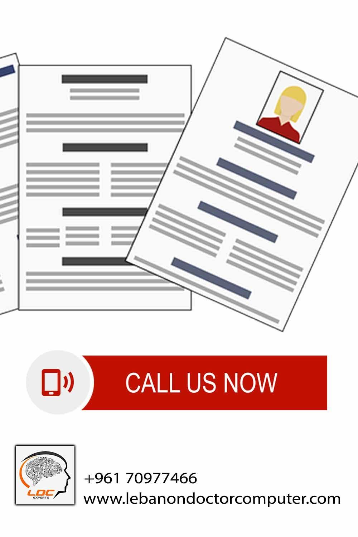 تصميم سيرة ذاتية لطلبات التوظيف في لبنان Build A Resume Professional Resume Job Seeker