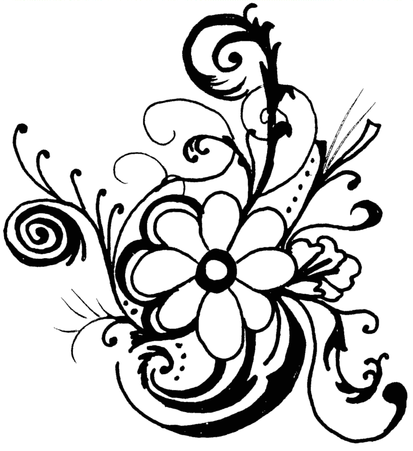 hawaiian flower clip art borders clipart panda free clipart rh pinterest com flower clipart black and white vector flower clipart black and white outline