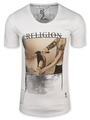 RELIGION XXX Cut The Knickers Scoop Neck T Shirt
