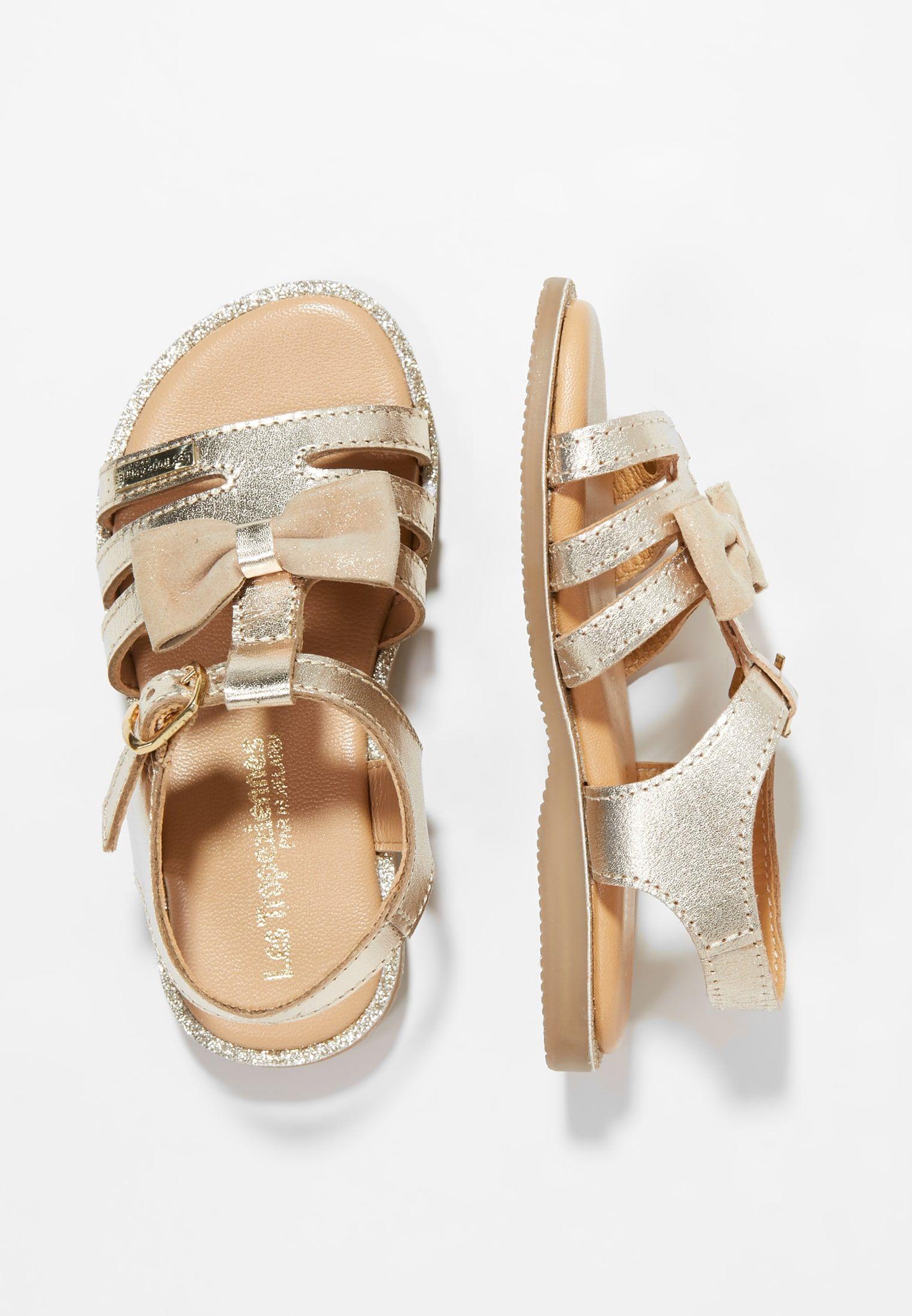 Ingrida Riemensandalette Gold Zalando De Schuhe Fur Madchen Kinder Schuhe Und Schuh Stiefel