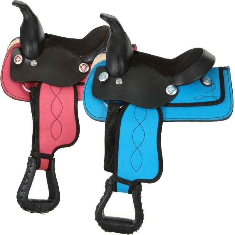 Tough1 King Series Miniature Synthetic Western Saddle