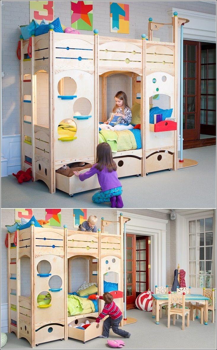 This is it! The perfect bed for two girls