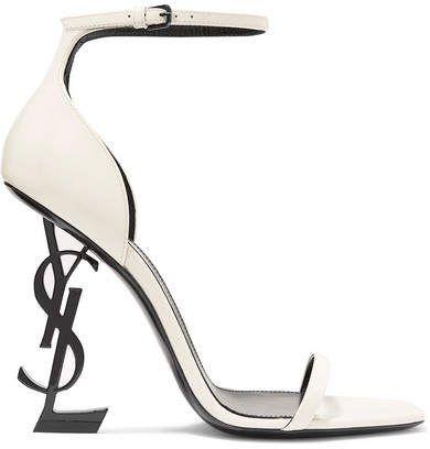 d5644fdfd24 Saint Laurent - Opyum Patent-leather Sandals - White  ysl  sandals  heels