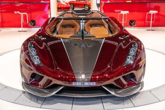 Koenigsegg Regera in Red Carbon Fiber for Sale