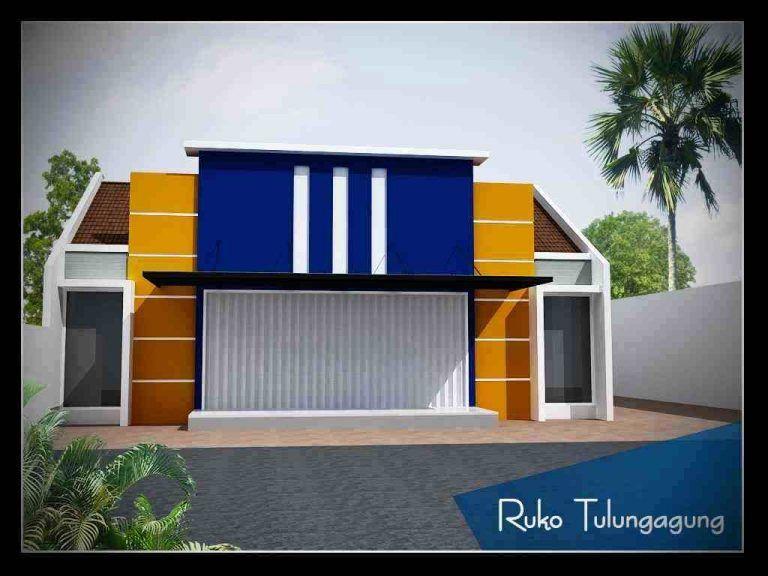 Ruko Minimalis 1 Lantai Sederhana Rumah Rumah Minimalis Desain Rumah