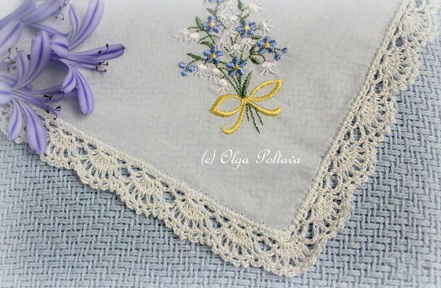 Lacy Crochet: Lace Edging for a Handkerchief, Simple Crochet Pattern ...
