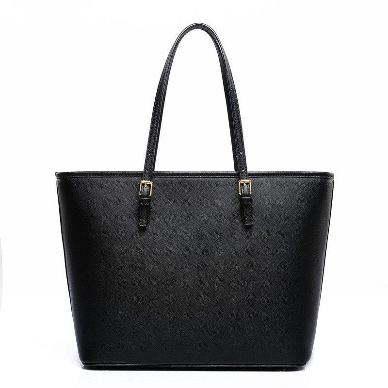 Luxury Women Messenger Bag Shoulder Big Women Tote Top handle Bags Black  Women Leather Handbag bolsas sac a main femme de marque-in Shoulder Bags  from ... 36e789d9e34