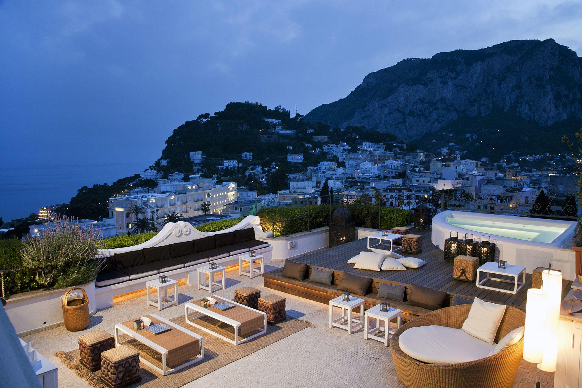 Capri Tiberio Palace Outdoor restaurant, Patio, Pergola