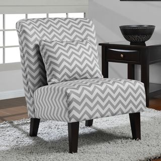 Genial Add A Trendy Touch To Your Living Space With This Grey And White Chevron  Print Chair.