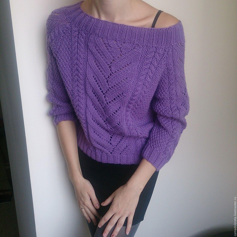 купить свитер аметист свитер вязаный свитер спицами свитер
