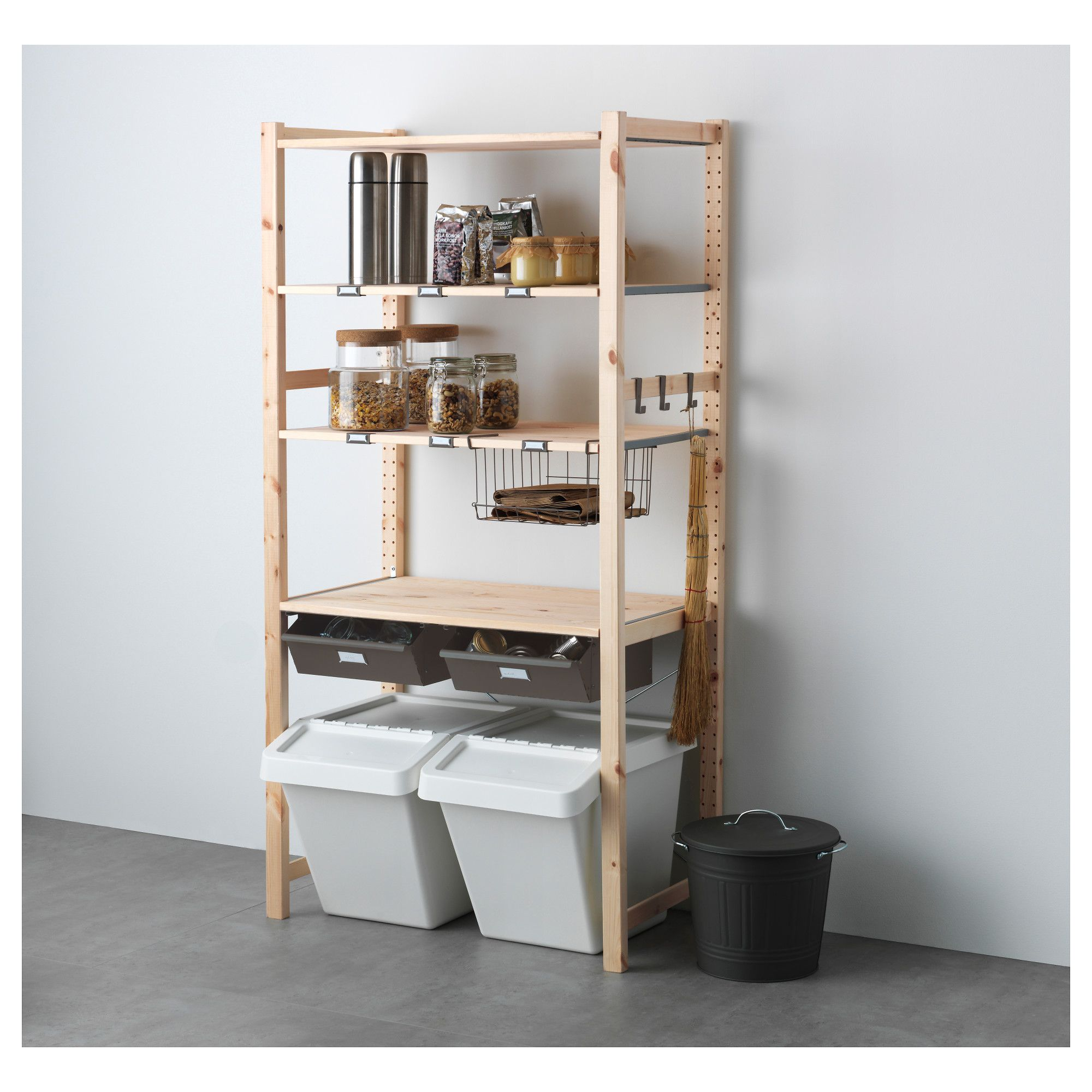 ikea ivar shelving unit with drawers untreated solid pine is a