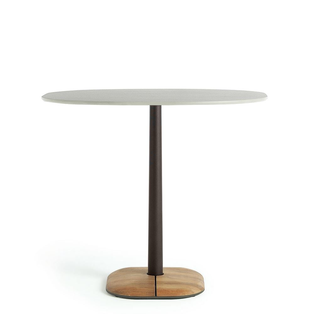 Ethimo Enjoy Dining Table 70x90cm H75 Coffee Brown Natural ...