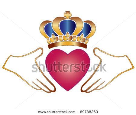 Love Symbols Vector Claddagh Finne Chladaigh Irish Symbol Of