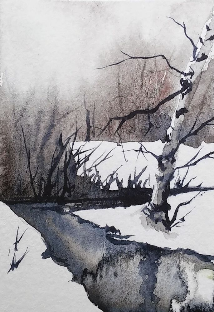 ACEO Original Watercolor Painting – by Watercolorist Jim Lagasse (Bangor, Maine,…